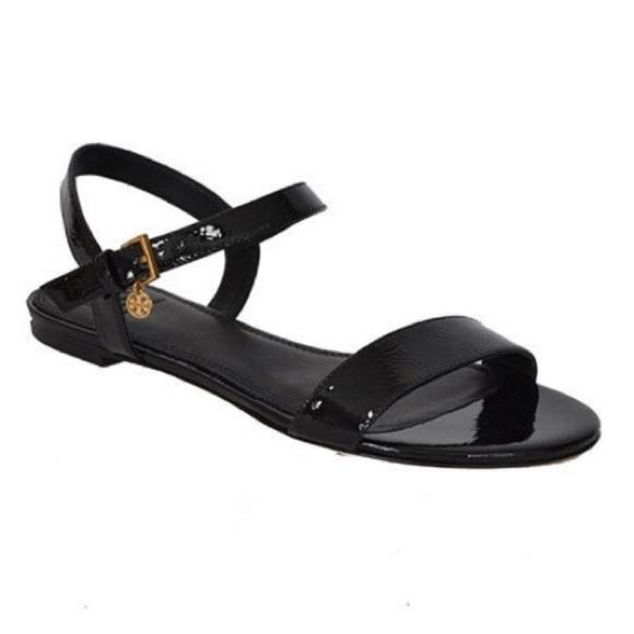 fc6e78dc9a8 Tory Burch Laurel Black Patent Sandal